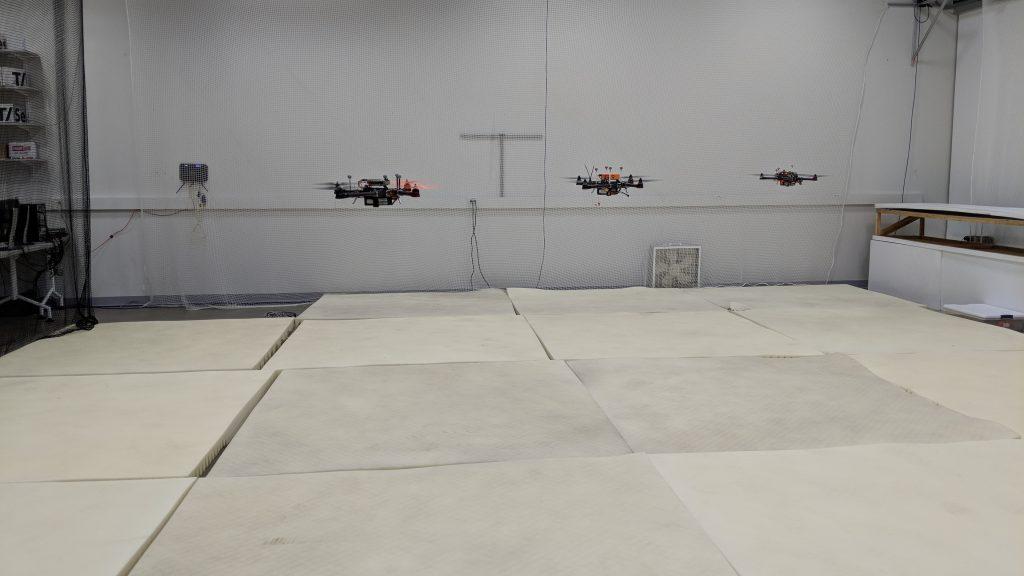 Indoor GPS: a drone fleet